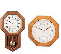 Seiko Light Oak Traditional Schoolhouse Wall Clock with Chime & Pendulum Chiming Wall Clocks, Best Wall Clocks, Pendulum Clock, Light Oak, Seiko, Traditional, Grandfather Clock