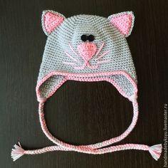 Шапки и шарфы ручной работы. Ярмарка Мастеров - ручная работа. Купить Шапка-кошка детская. Handmade. Шапка-кошка, зверошапки