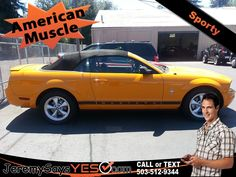 2007 Ford Mustang Convertible For Sale at JeremysaysYES.com Bad Credit Auto Loans Buy Here Pay Here Bad Credit Car Loans Buy Here Pay Here