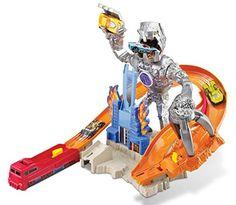 Hot Wheels - Cdr06 - Circuit De Voiture - Piste Robot Attaque pour Liam