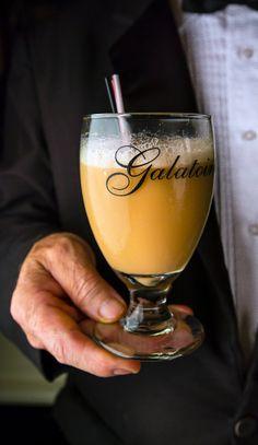 "A ""pineapple milk"" punch from Betony in Manhattan via Tasting Table"