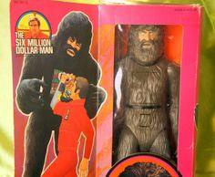 Six Million Dollar Man Bigfoot close up.