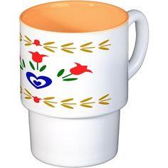 Harvest Heart Coffee Cups Coffee Cups on CafePress.com
