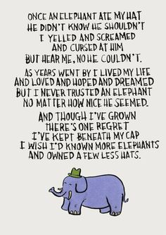 this makes me teary. and. i love the elephant.
