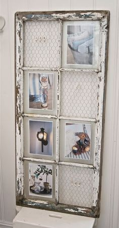 Cute way to display photos/jewelry.