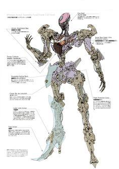 Mortar Headd Skeleton body frame - Five Star Stories Gundam, Character Concept, Character Art, Mecha Suit, Cyberpunk, Arte Robot, Cool Robots, Robot Concept Art, Ex Machina