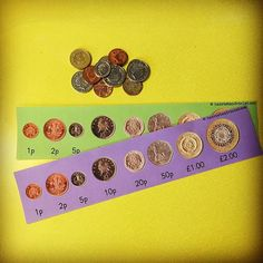 💷 Coin Strip £ & pence. Supporting in the classroom or home with coin recognition. Having real life money is so important for children to handle and play with.