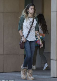 Out and about: Paris Jackson was spotted out and about in Beverly Hills, California, on Fr...