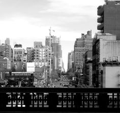 b/w Highline Park, New York Skyline, Spaces, Travel, Viajes, Trips, Tourism, Traveling