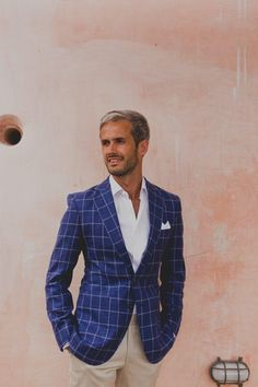 33 Times Patterned Groomswear Stole the Show Styles You Can Shop Wedding Blog, Wedding Styles, Navy And White, White Plaid, Business Professional Women, Amalfi Coast Wedding, Groom And Groomsmen Attire, Groom Style, Boutique