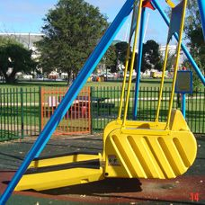 Wheelchair swing for children and adults who use wheelchairs