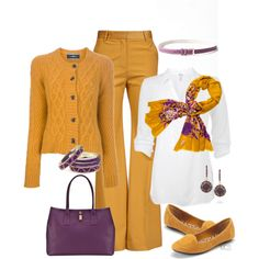 """""""Mustard with a touch of Purple"""""""