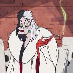 Cruella Deville, Best Picture For Disneyland los angeles. Cartoon Memes, Cartoon Icons, Cartoon Art, Cartoon Characters, Food Cartoon, Cartoon Drawings, Disney Kunst, Art Disney, Disney Movies