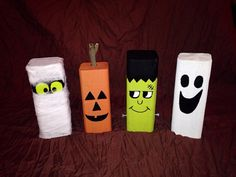 wood halloween decor rustic halloween decorations set of 4 - Etsy Halloween Decorations