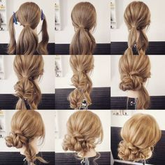 What's the Difference Between a Bun and a Chignon? - How to Do a Chignon Bun – Easy Chignon Hair Tutorial - The Trending Hairstyle Easy Hairstyles For Long Hair, Bride Hairstyles, Messy Hairstyles, Pretty Hairstyles, Long Haircuts, Natural Hair Updo, Natural Hair Styles, Long Hair Styles, Hair Upstyles