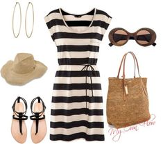 Beach Polyvore Combinations