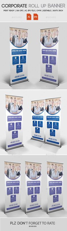 Corporate Roll up Banner Template #design Download: http://graphicriver.net/item/corporate-roll-up-banner/11272965?ref=ksioks