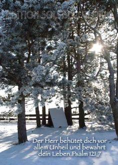 christliche Postkarte 14 - Psalm 121, Winter - Bibel a la Carte - Christliche Karten
