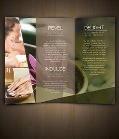 Nav Spa Brochure by Amanda Cohen, via Behance Spa Design, Salon Design, Spa Massage, Massage Therapy, Spa Brochure, Business Brochure, Business Cards, Advertisement Examples, Advertising