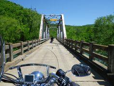 One lane bridge, near Ozark Ar.