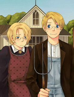 hetalia siblings (north america) - anime-siblings Photo :D