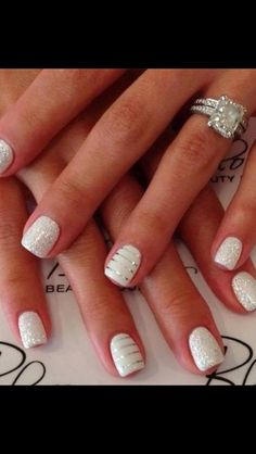 Beautiful. my wedding nails. done.