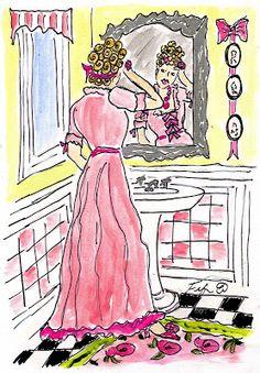 Fifi Flowers Painting du Jour Gallery: Marie Antoinette Bathroom