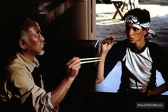 Year: 1984 Why you should show it: Do your kids a favor and don't show them the most recent remake of this classic. Ralph Macchio and Pat Morita are the The Karate Kid 1984, Karate Kid Cobra Kai, 80s Movies, Disney Movies, Movie Tv, Movies Showing, Movies And Tv Shows, Radios, Native American Moccasins