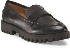Leather Lug Sole Loafer