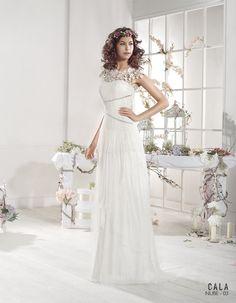 Vestido de novia ibicenco NUBE - Cala | VILLAIS