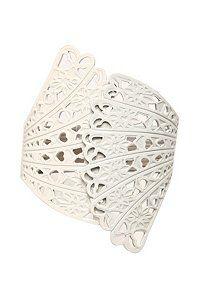 torrid- white fan bracelet