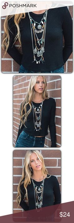 "✂️PRICECUT✂️Gorgeous Boho Layered Stmt Necklace Gorgeous Boho layered statement necklace. One piece with lobster claw clasp & extender. Each necklace is unique and varies slightly. Simply amazing & instantly transforms your look. Love it so much!  55% iron - 25% casting - 10% leather - 5% stone - 5% ccb. Shortest length 9.5"" - Longest length 19.5"".  Made in India Jewelry Necklaces"