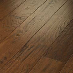 Shaw Floors Epic Pebble Hill Engineered Hickory Flooring in Burnt Barnboard Shaw Hardwood, Hardwood Tile, Refinishing Hardwood Floors, Hickory Flooring, Engineered Hardwood Flooring, Sanding Wood, Hardwood Floor Colors, Tile Stairs, Basement Inspiration