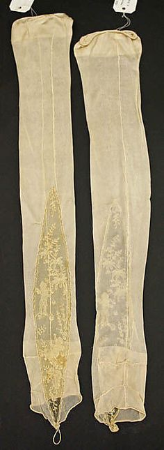 Stockings 1925 French, silk, cotton