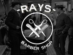 rays barber shop logo