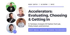 """Questions about accelerators? Thinking about applying to one? Join us next week! We've lined up 5 brilliant speakers to share their insights about @techstars, @ycombinator, @500Startups & @nyftlab  https://t.co/CIz2ePzJ7E"""