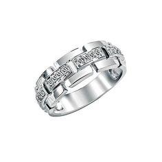 Alianza de diseño moderno y sofisticado que simila una joya articulable, unida por pequeñas filas de diamantes que unen cada pieza del anillo. Una montura ancha ideal para mujeres modernas que quieran combinar el estilo de una joya diferente y sofisticada con la elegancia y calidad de una alianza de diamantes de acabado perfecto.
