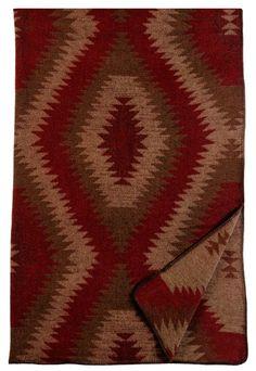 Wampum Southwestern Geometrical Pattern Throw Blanket 60x72 by wooded river