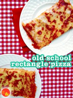 Old School Rectangle Pizza: Your favorite lunchtime treat, full of pepperoni and cheese goodness! Pizza Old School, School Cafeteria Pizza Recipe, School Lunch Recipes, Cafeteria Food, School Recipe, School Lunches, Pizza Recipes, Cooking Recipes, Cooking Games