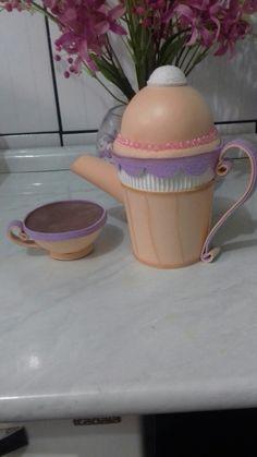 Hora do chá!  Amo trabalhar com eva.