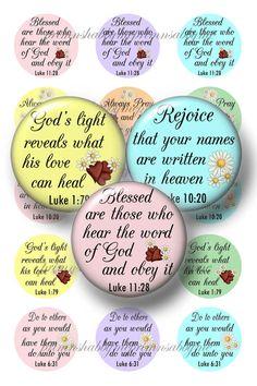 CHRISTIAN Bible Verses Bottle Cap Images1 Inch by primnshabbyme