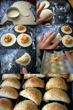 MINI CHICKEN PIES WITH A DIFFERENT PERUVIAN TOUCH  (Scroll down for the English recipe)    ¡¡No os lo vais a creer!! Cuando veáis lo fácil q...