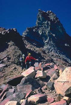 mountain climbing on mt jefferson -oregon - MUCH better than climing on snow!