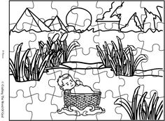 Moses In The Basket Puzzle (Activity Sheet) Activity sheets are a great way to end a Sunday School lesson. They can serve as a great take home activity. Or sometimes you just need to fill in those … Sunday School Stories, Sunday School Activities, Bible Activities, Sunday School Lessons, Home Activities, Sunday School Crafts, Craft 2016, Baby Moses, Moise