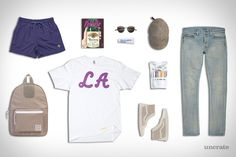 Uncrate Style Garb: Mailbu. Not a fan of most of these pieces individually, but as a whole, well styled. Digging the purple and beige.