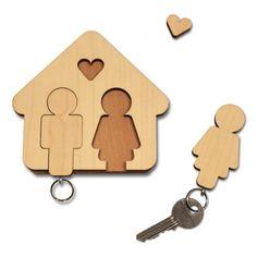 """Schlüsselbrett """"Mann + Frau"""" - das perfekte Geschenk zum Valentinstag!"""