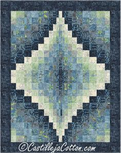 Fat quarter friendly wall hanging pattern. Bargello Jewel Quilt Pattern CJC-49252 by Castilleja Cotton - Diane McGregor.  Check out more of our quilt patterns. https://www.pinterest.com/quiltwomancom/quilts/  Subscribe to our mailing list for updates on new patterns and sales! http://visitor.constantcontact.com/manage/optin?v=001nInsvTYVCuDEFMt6NnF5AZm5OdNtzij2ua4k-qgFIzX6B22GyGeBWSrTG2Of_W0RDlB-QaVpNqTrhbz9y39jbLrD2dlEPkoHf_P3E6E5nBNVQNAEUs-xVA%3D%3D