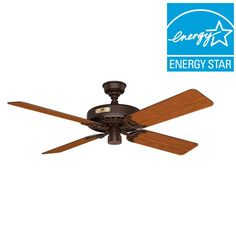 Hampton Bay Heirloom 52 In Outdoor Oil Rubbed Bronze Ceiling Fan Fans And