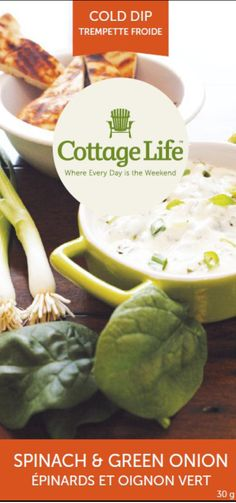 Spinach and Green Onion cold dip. www.orange-crate.com