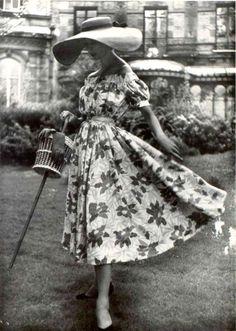 Model wearing Elsa Schiaparelli, 1952
